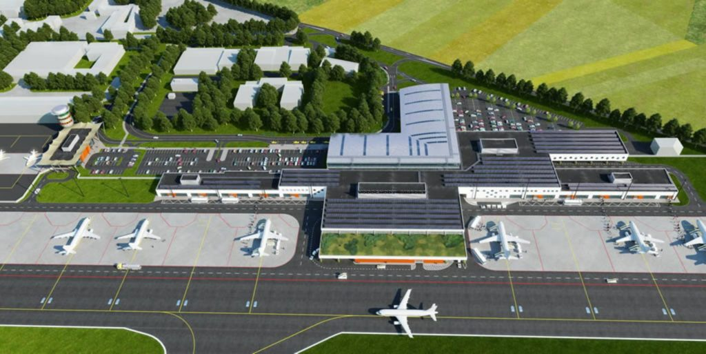 Vizualizace terminálu Letiště Vodochody