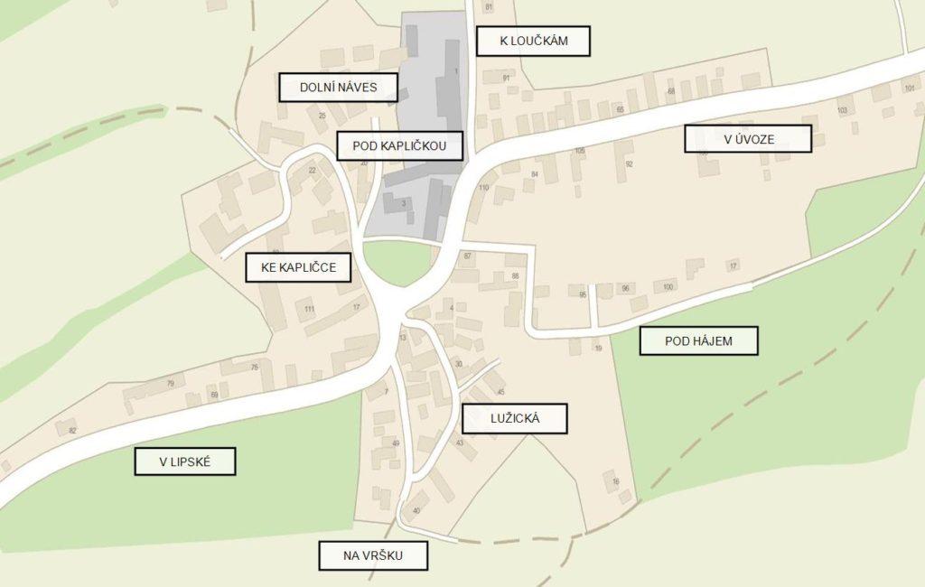 Neschválený návrh na pojmenování ulic v Lešanech