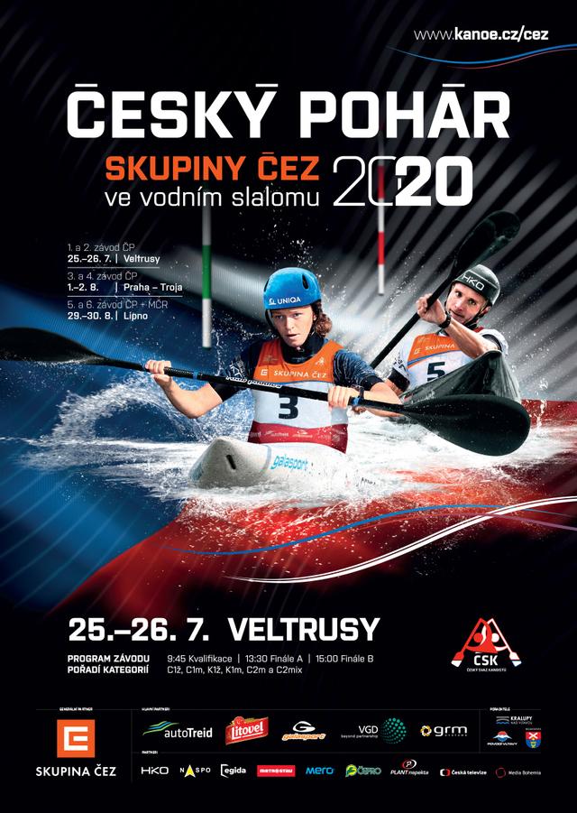 CP CEZ 2020 vodni slalom VELTRUSY