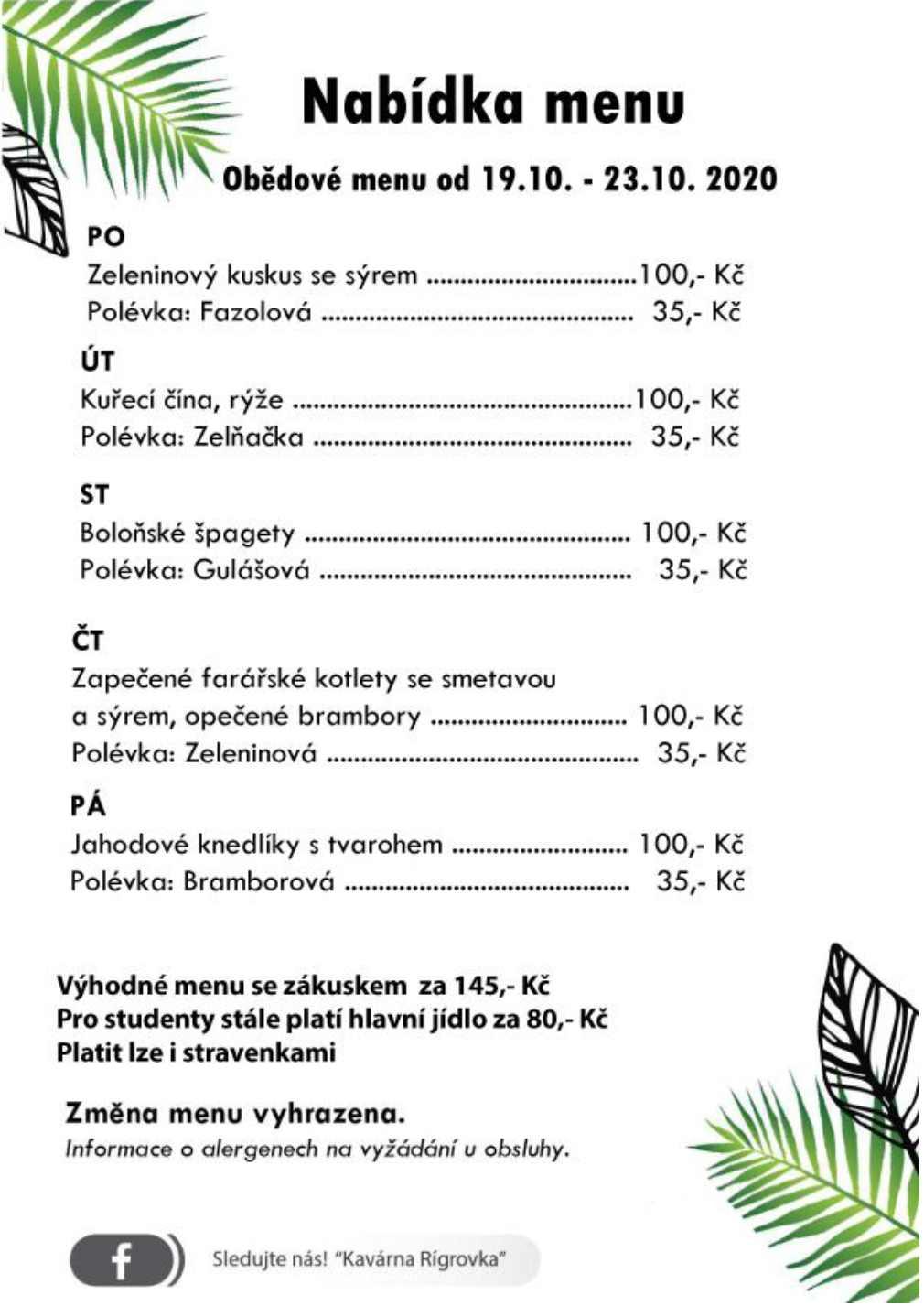 jidelni listek rigrovka 2020 10 19
