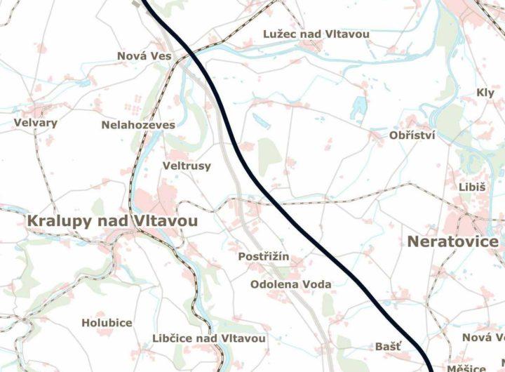 Plánovaná trasa vysokorychlostní trati